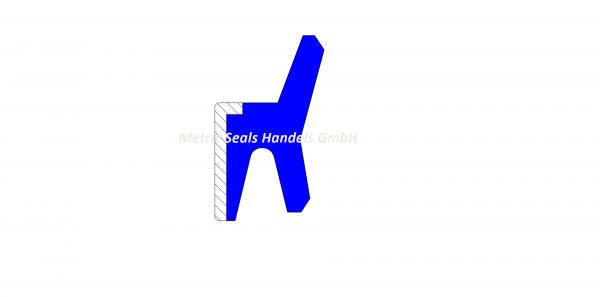Abstreifer passend für Komatsu 195-63-94170